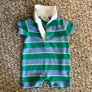 Ralph Lauren Infant Boys Striped Polo One Piece
